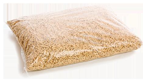 фото пеллет в полиэтиленовом пакете